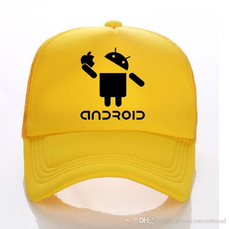 fb8abd634e92c9 Android Summer Trucker Hats Men And Children Funny Baseball Cap Cool Hipster  Style Men Sun Hat Breathable Caps Custom LOGO Lids Hats Visors From ...