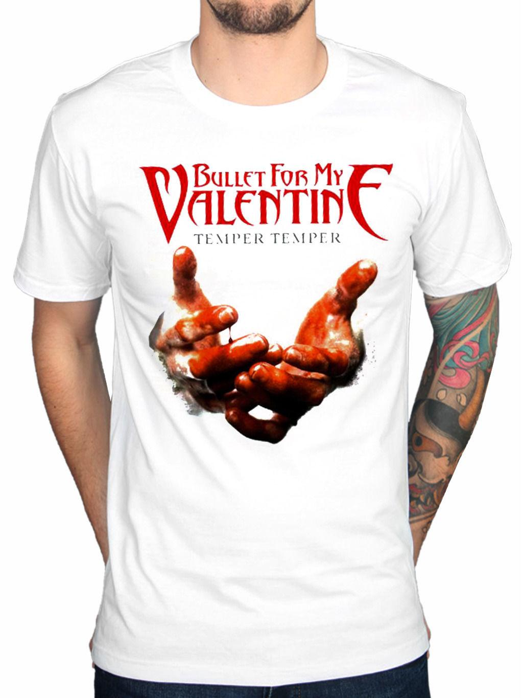 Official Bullet For My Valentine Temper Temper Blood Hands T Shirt