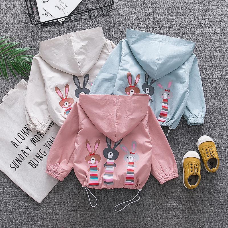 9159f85723a 2019 Windbreaker Girls Jackets Girls Coat Hooded Baby Girl Winter Clothes  Baby Coat Cute Girls Winter Clothes Children Clothes