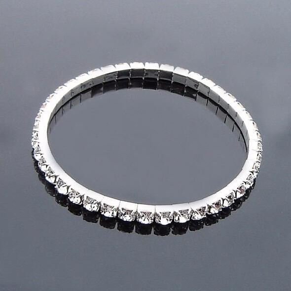 Crystal Bracelets Promotion Fashion Chic Single Row Stretched Elastic Strand Bracelet For Women