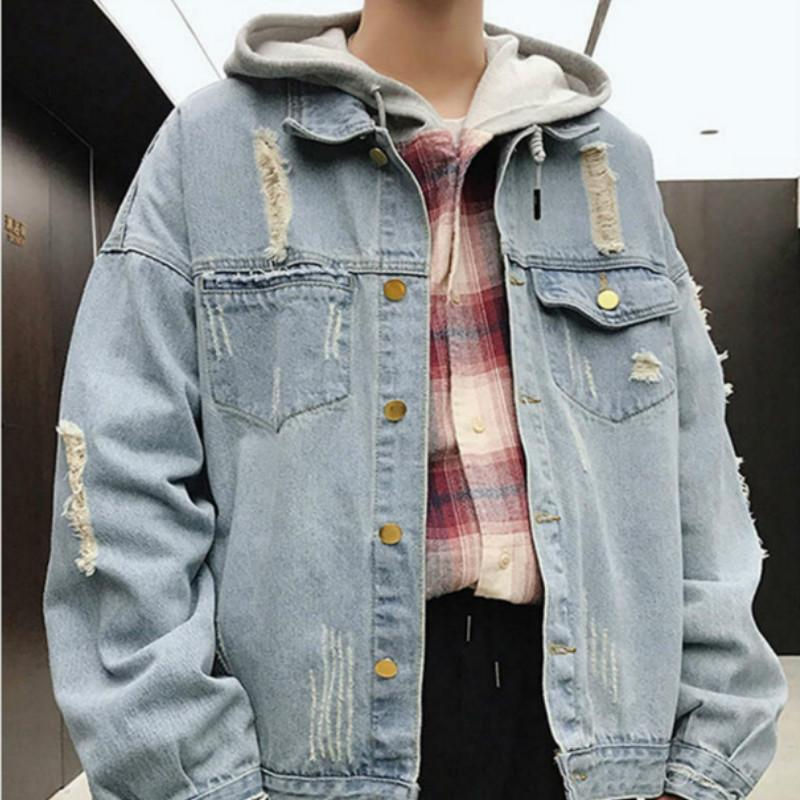 Brand Coat New Spring Autumn Jacket Outwear Clothing Wholesale Best Selling Designer Denim Shirt for Men Vintage Luxury Jeans Fashionable