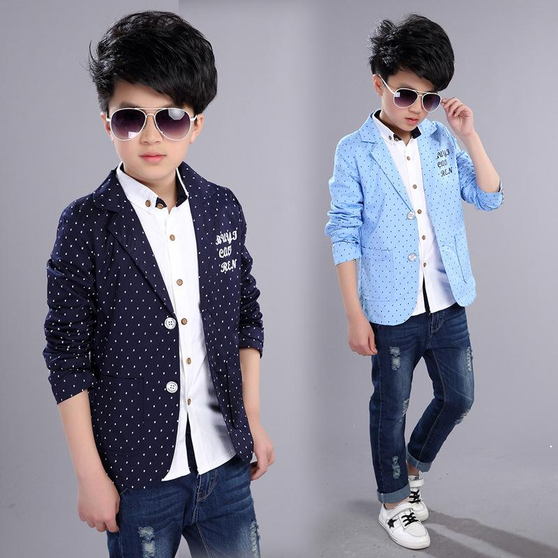 f14a2c4d4 Boys Formal Coats 2019 New Spring Autumn Kids Jackets For Boy 4 5 6 8 10 12  14 Year Toddlers Children Teens Top Clothes Boys Parka Jackets Best Winter  ...