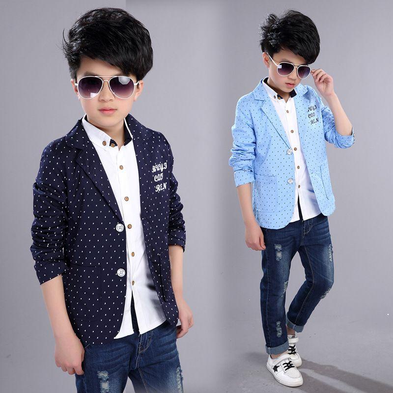 71b7f258e Boys Formal Coats 2019 New Spring Autumn Kids Jackets For Boy 4 5 6 ...