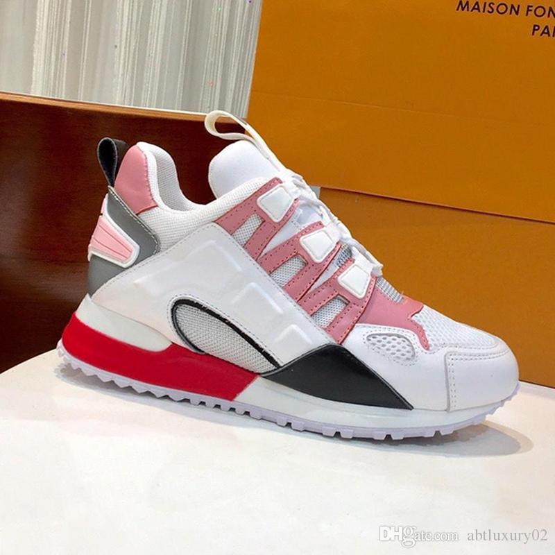 Louis Vuitton Chaussures femmes Run Away Sneaker de haute qualité en plein air Marche Casual Footwears Bas Top lacets Plus Size Fashion Chaussures Femme avec Origin Box