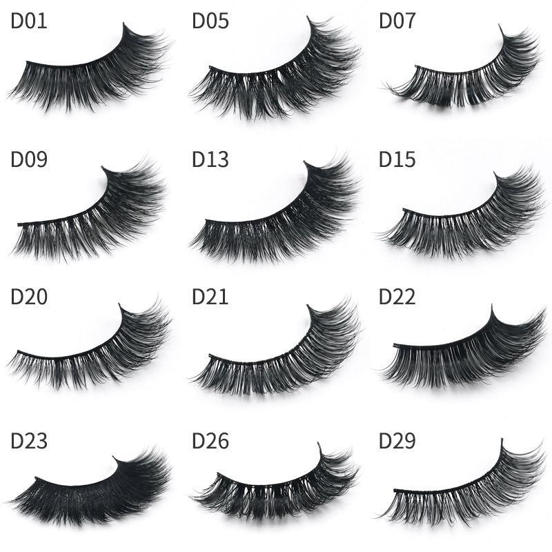 3D Mink Eyelashes Multilayer Eye makeup Mink False lashes Natural Thick  Fake Eyelashes Extension Eyes Lashes For Beauty 15styles GGA1757