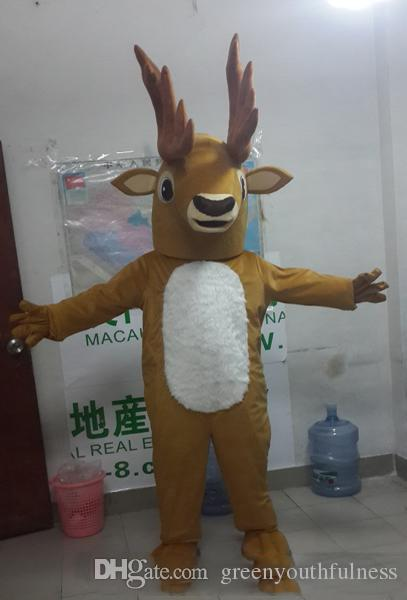 2018 High quality adult cutest high-end Christmas deer cartoon mascot costume