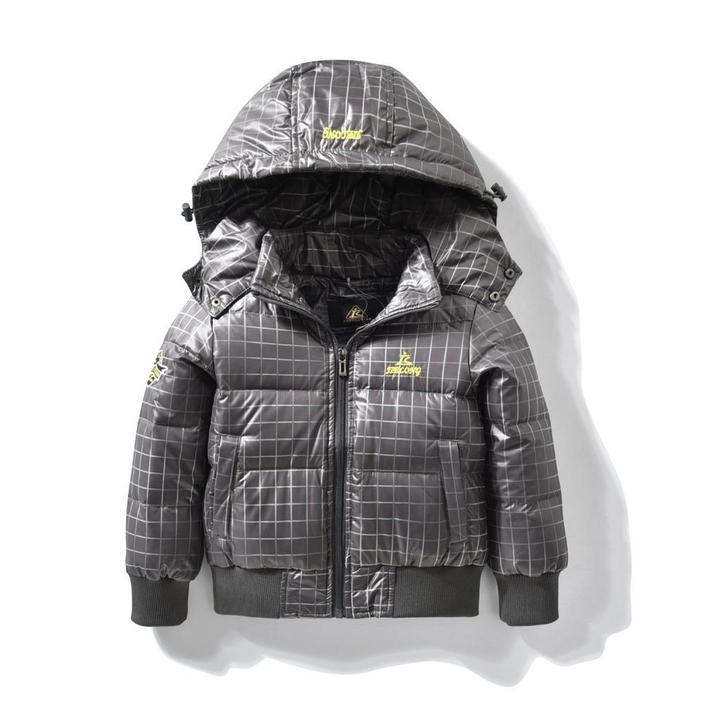 3619b67a1 Down Jacket for baby Boys Children hooded outerwear coat with soft nap kids  jackets for Boy Winter children Clothing 3 4 5 Years