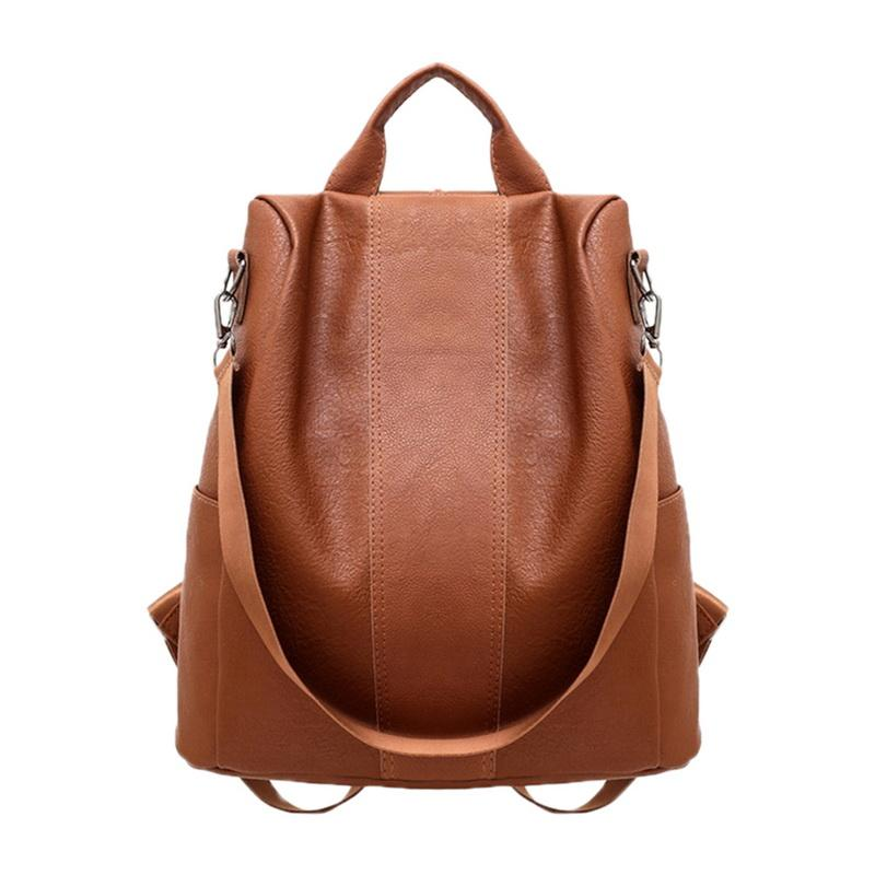 Women S Leather Backpack School Bag For Laptop Formal College Student Girls  Ladies Backpack Travel Solid Bag PU Leather Fashion Travel Backpack Cute ... ea03ebed29614