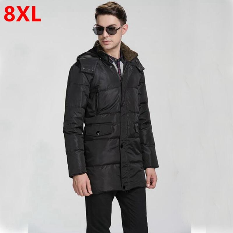 c31db63a5c8d 2019 Winter Men Add Fertilizer Plus Size Long Down Jacket Mens Fat 6XL Fat  Winter Coat Big Yards Man Long Down Jacket From Whitecloth
