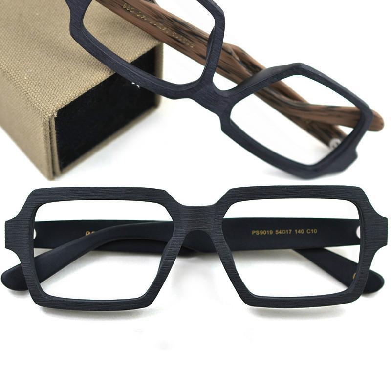 52de7f42bc0 Vintage Handmade Plate Nearsight Glasses Frame Flat Mirror Wooden ...