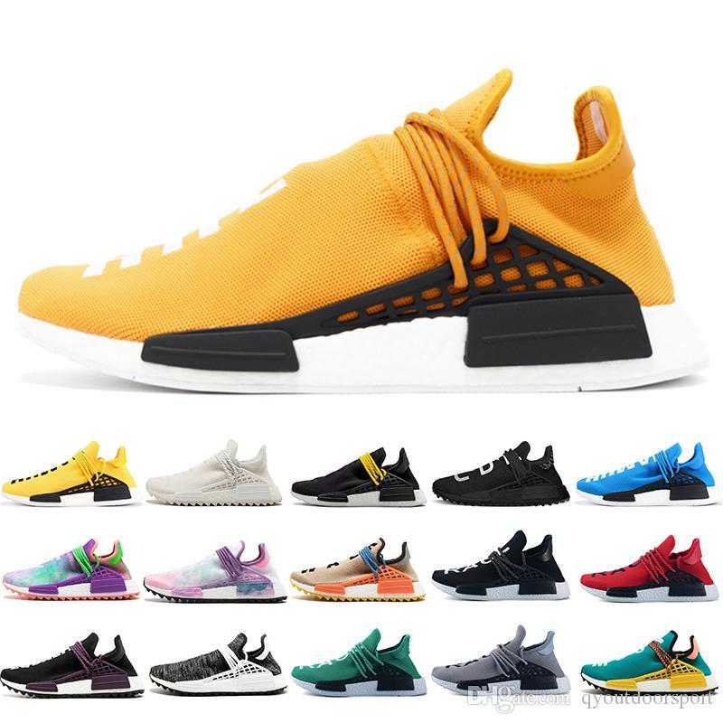 19cd64dfd 2019 2019 Cheap Luxury Human Race NMD Runing Shoes Men Women Solar Pack  Black Yellow PW HU HOLI Pharrell Williams Designer Sport Sneakers From ...