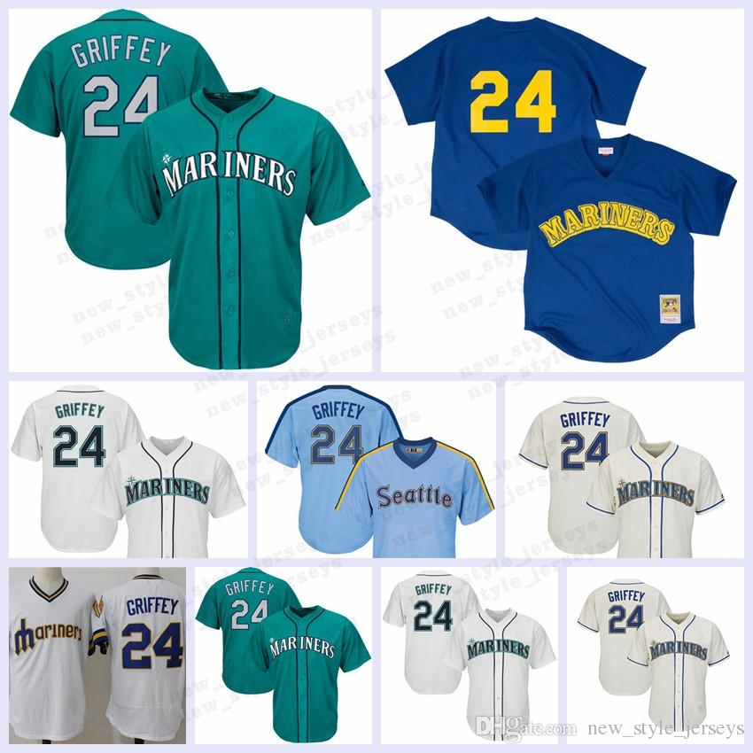 online store b8263 4df63 Seattle Ichiro Suzuki 2019 Mariners Jersey 22 Robinson Cano 24 Ken Griffey  Jr. Jerseys Mens cool base flex Baseball Jerseys Edgar Martine