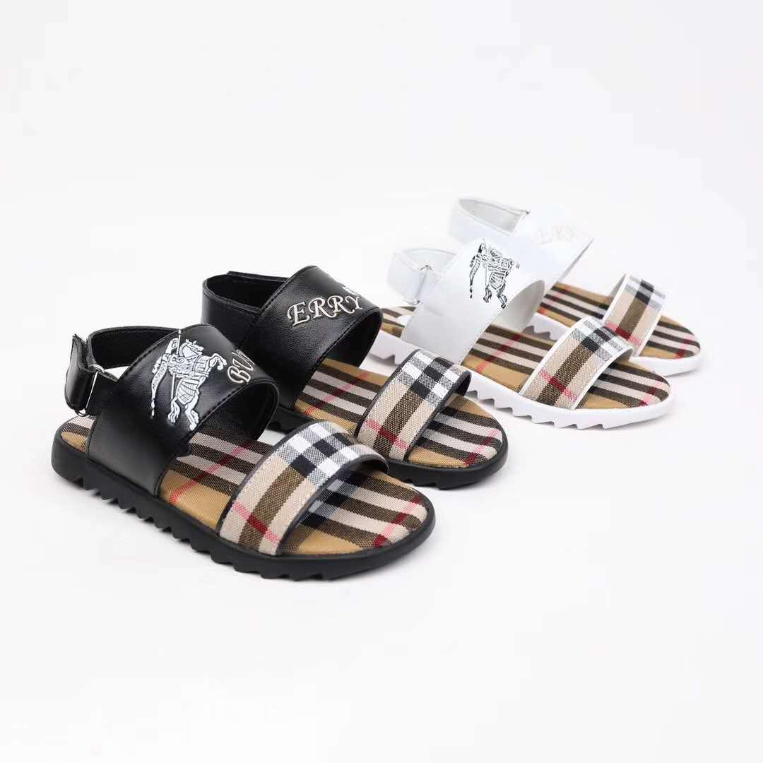 2e29ab5ddf kid fashion shoe summer designer sandals genuine leather vamp boy girl high  quality sport sandals slippers free shipping