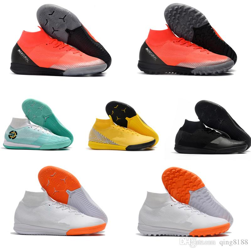 8107d4c02be 2019 Kids Indoor Mercurial Superfly SuperflyX KJ VI 360 Elite IC TF Mens  Women Boys Soccer Shoes Cristiano Ronaldo CR7 Football Boots Socceer Cl  From ...
