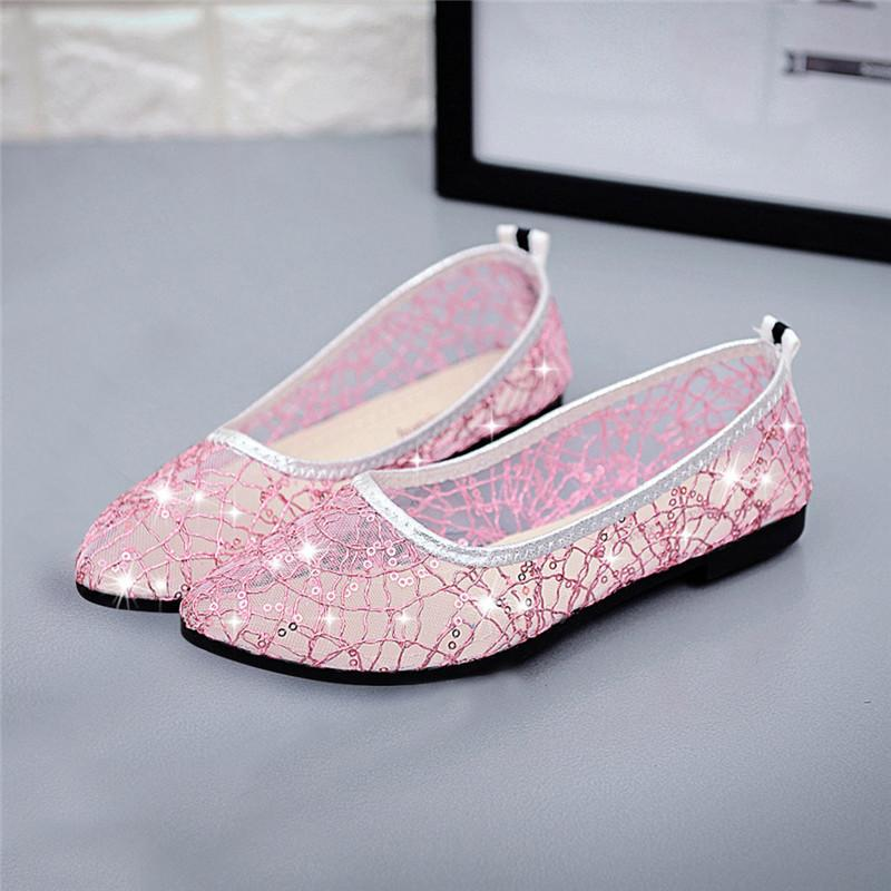 4455c4b44fe Shoes Women Flats Comfort Mesh Loafers Spring Breathable Soft Ballerina  Flats Ladies Bling Crystal Slip-On Shallow Shoes  40 Women s Flats Cheap  Women s ...