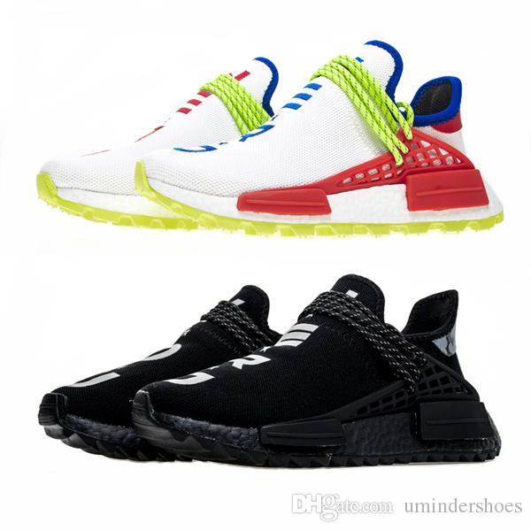 low priced 15705 c806d Acheter Chaussures De Randonnée Hu Trail Human Race Baskets Pharrell  Williams Nerd BBC Cotton Candy Jaune CC Noir Tennis Trainer De  71.07 Du  Umindershoes ...