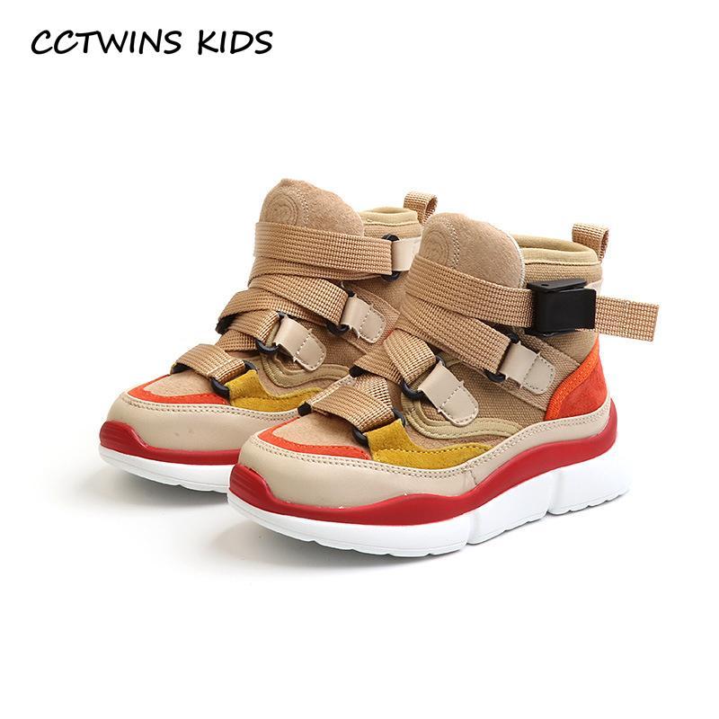 67cce0d60 Compre CCTWINS KIDS 2018 Otoño Niños High Top Sneaker Baby Boy Pu Zapato De  Cuero Girll Moda Deporte Entrenador Casual FH2244 Y18110304 A  50.93 Del  Gou07 ...