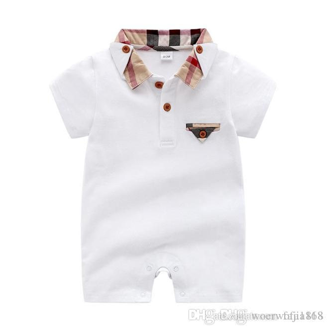 8ef6d598d 2019 20120 Baby Boys Rompers Short Sleeve Infant Jumpsuits Summer Baby  Girls Clothing Sets Cartoon Newborn Baby Clothes For 3 24 Month From  Woerwofa1818, ...