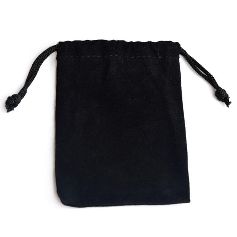 1G 75X Terciopelo Negro Joyería Cordón Bolsas de regalo bolsas Hot A4E5 3X