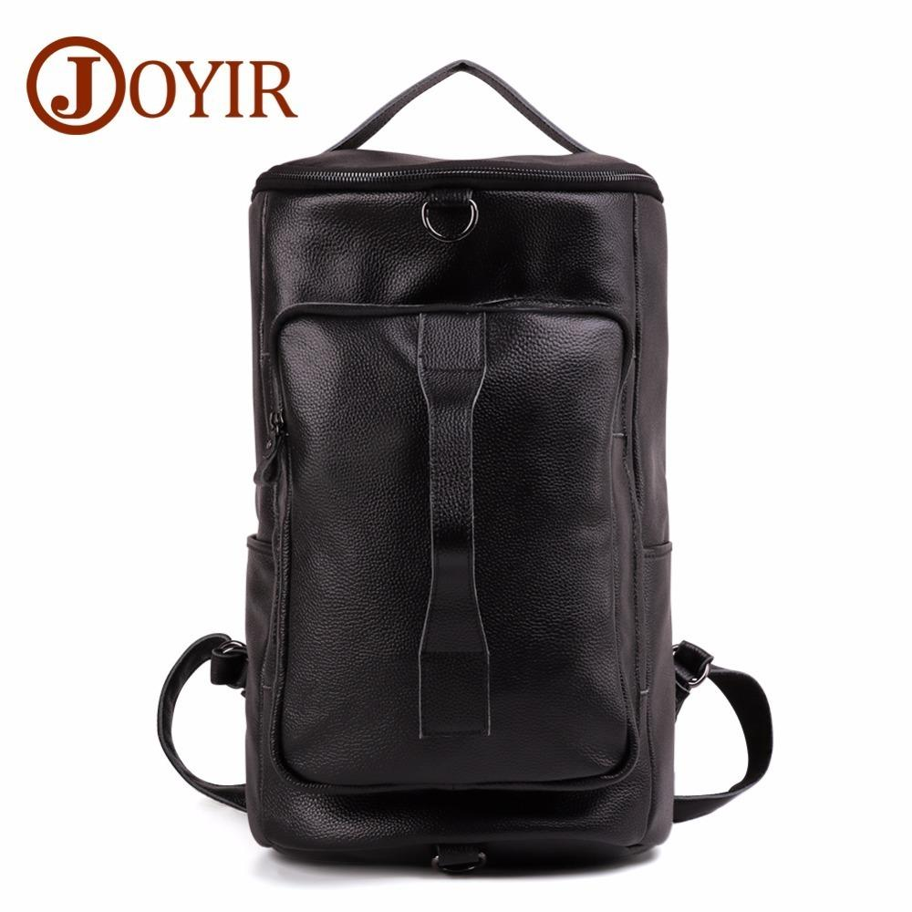 0996c9fa1d Brand Casual Rucksack Men Vintage Leather Travel Bag Large Capacity  Mountaineering Genuine Bucket Shoulder Black Designer Backpacks Luxury  Backpacks For ...