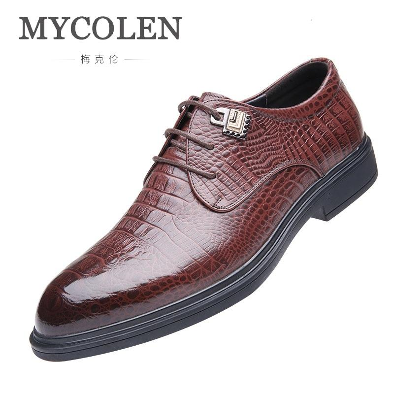 d5993cbdca Compre MYCOLEN 2019 Nueva Marca De Moda Para Hombre De Charol Botas De Boda  Zapatos De Vestir De Boda De Calidad Zapatos De Hombre Suave Erkek  Ayakkabilar A ...