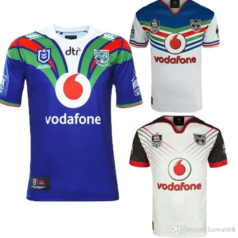 best sneakers 78222 0fafe 2018 2019 Zealand Warriors Rugby Jerseys 18 19 NRL Home and Away Warriors  Shirts Australia National Rugby League Tops Size S-3XL