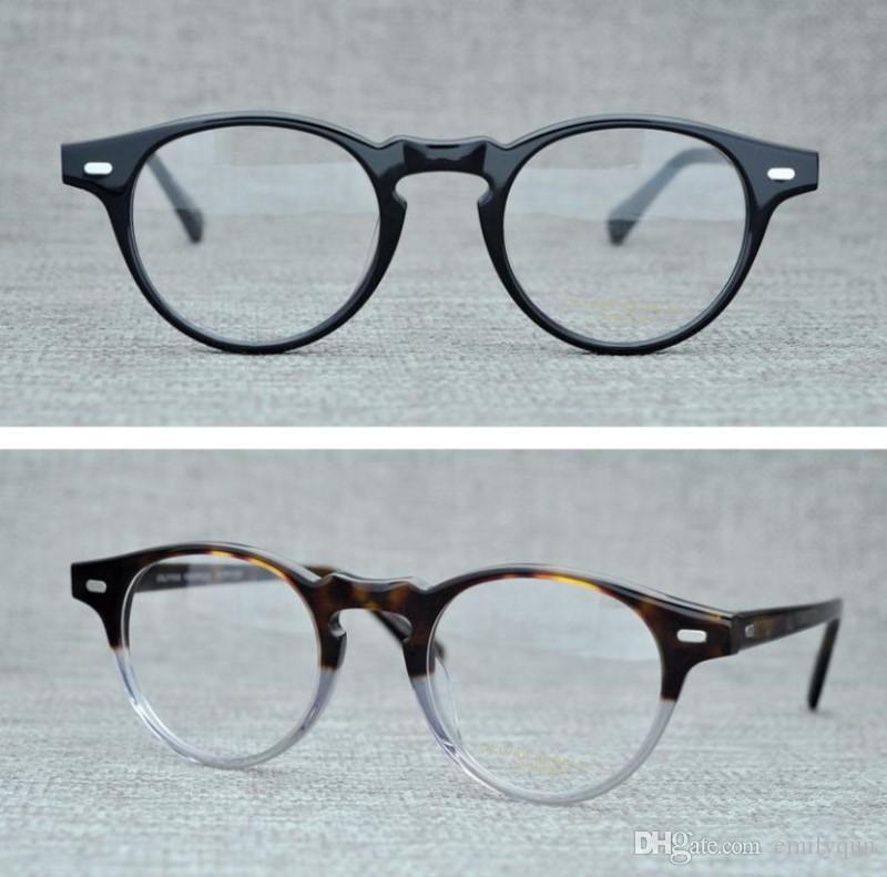 1fcf1af852d 2019 Vintage Optical Glasses Frame Oliver Peoples Gregory Peck OV5186 Brand Eyeglasses  Frames For Women Men Round Myopia Eyeglasses With Case From Emilyqun