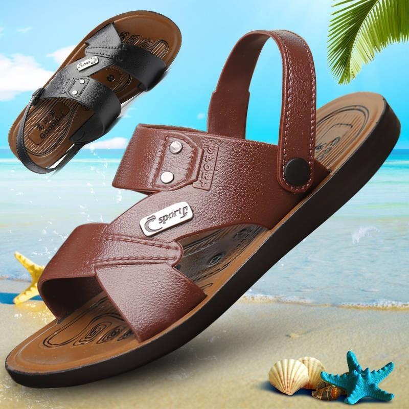 8156e6a6c846 2018 New Fashion Summer Men Flip Flopssandals Men Leather Shoes ...