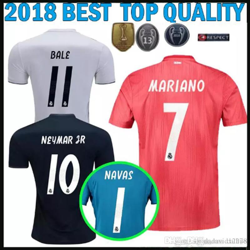 9f7e0d04c 2019 Adults 18 19 Real Madrid Soccer Jerseys Home Away Third Red Shirt 2018  BALE ASENSIO KROOS ISCO Champions League 13 Cups Football Shirt From  Caihuo