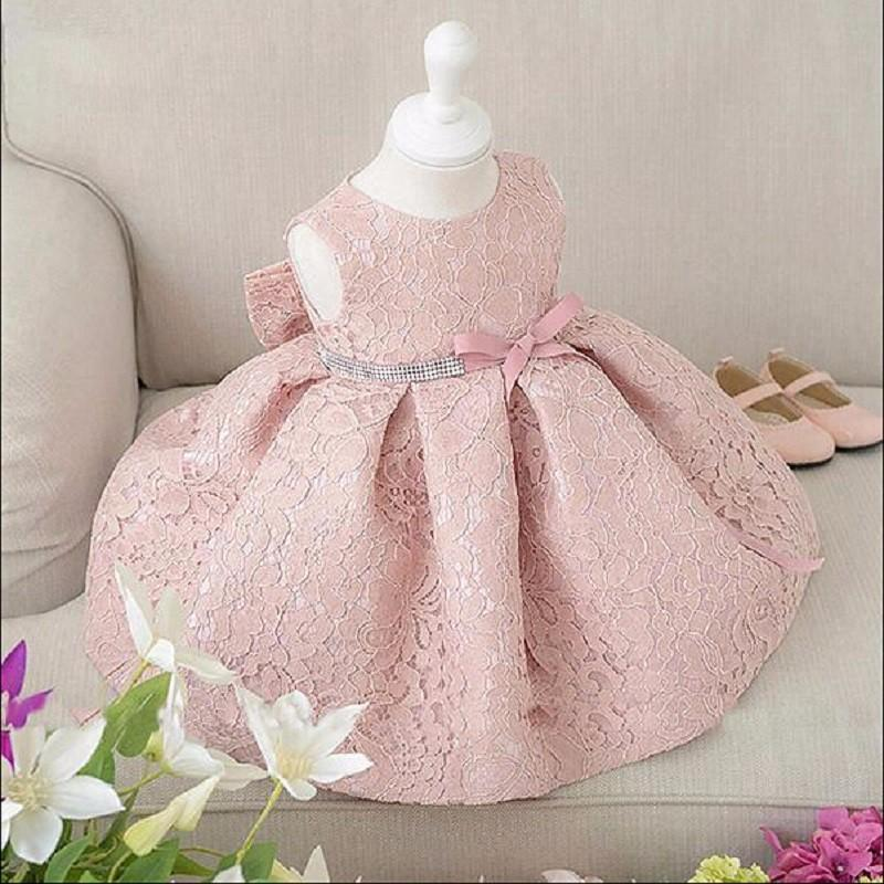 New Baby Girl Birthday Dress Ball Gown Christening Dresses 1 Year Girl Baby Birthday Dress Baby Girl Dress MX190719