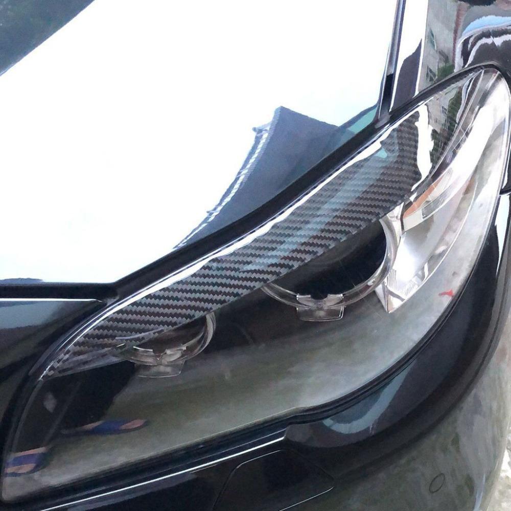 2019 Carbon Fiber Headlights Eyebrows Eyelids For Bmw F10 5 Series