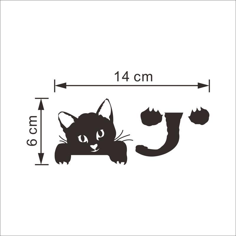 재미 있은 검정 고양이 개 스위치 벽 스티커 홈 장식 거실 침실 팔러 장식 비닐 Decals DIy 벽화 예술