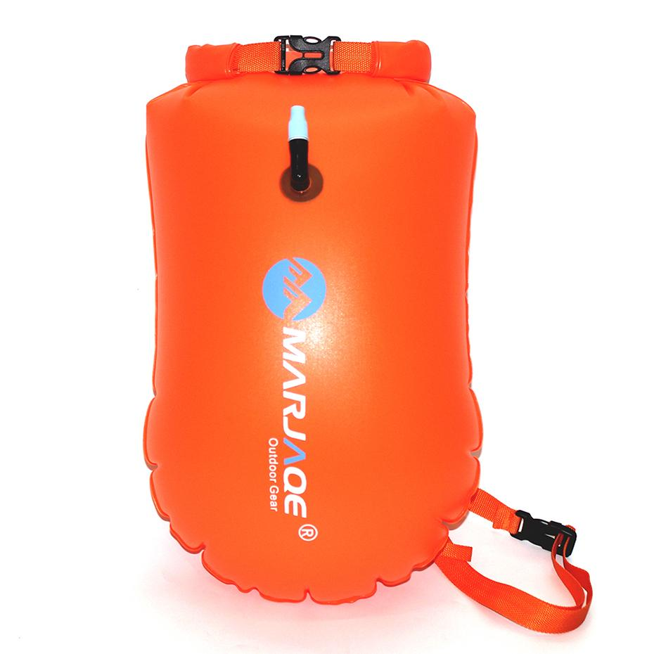 MARJAQE Inflatable Flotation Bag Swimming life buoy PVC 20L outdoor  portable waterproof bag storage Dry For Swimming Diving