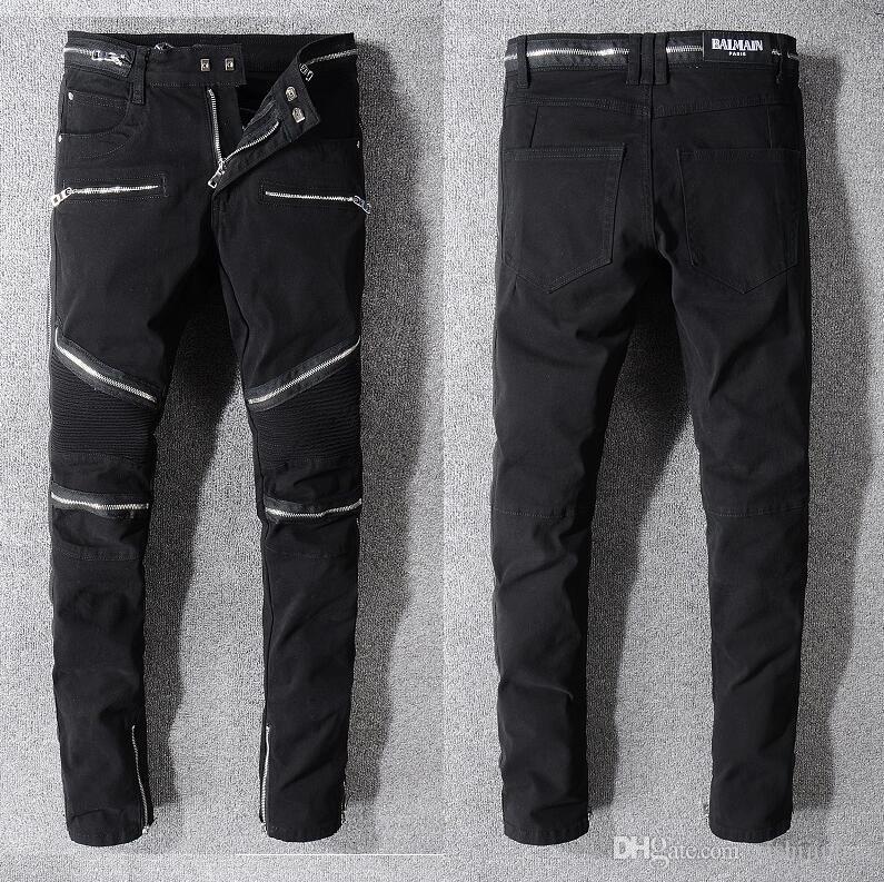 6cfbc492b Nuevos 2019 Jeans para hombres Moda Casual Europeo y Americano Pantalones  largos para hombre de primavera y otoño BA1071 Off White Balmain PHILIPP ...