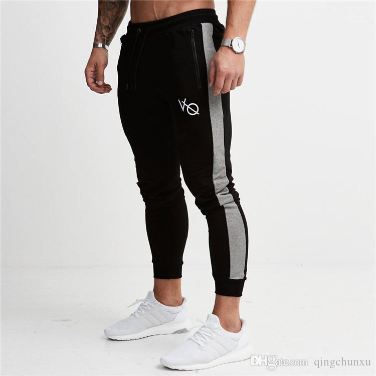Envío gratis Hot 2018 Autumn Men Pants fashion Men Pants casual Slim Fit Mens Joggers Sweat Pants Pantalones de gran tamaño Leisure CK77