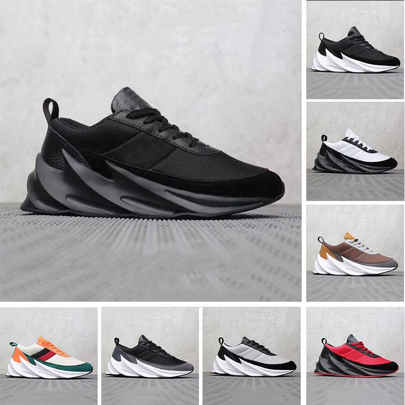 2019 40 45 Sharks Concept Tubular Shadow Knit Trainer Men Running Athletic Shoes Black White Red Bred Mens Women Sports Outdoor Sneakers -