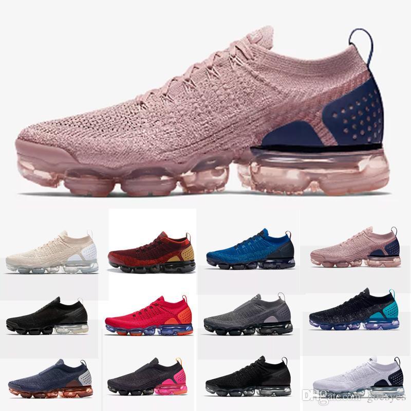 new product 66acd e7787 2019 Nike Air Max Vapormax Air Vapors MOC 2 2.0 Laceless MOC2 Diseñador De  La Marca Barato Zapatillas Para Hombre Zapatillas Maxes Pink Para Mujer ...