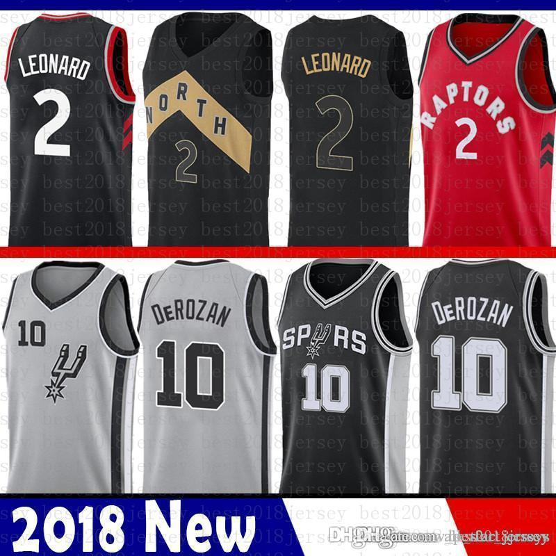 new style dca93 6f0d5 San Top quality Antonio Toronto 2018 New 2 Kawhi # Leonard Jersey Raptors  Spurs 10 Demar # DeRozan The City Basketball Jerseys