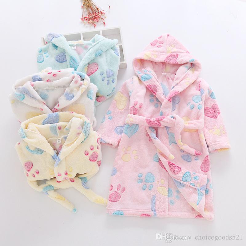 d9c9e5e9df Kids Pajamas Sleepwear Children Flannel Bathrobe Girls Boys Robe Clothing  Baby Clothes Nightgown Kids Pajamas 6 P l Bathrobe Pajamas Sleepwear Online  with ...