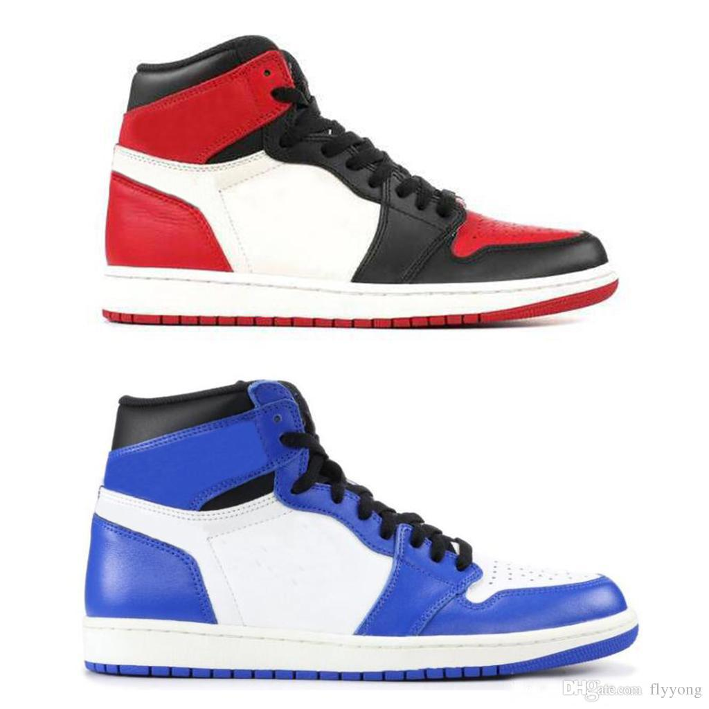 04170b77ec61 2019 2019 1 OG High Game Royal Basketball Shoes Chicago White Mens Sports Boots  1s Banned Gold Top 3 Red Toe Retro Woman Off Sneakers Hot Sale From  Flyyong