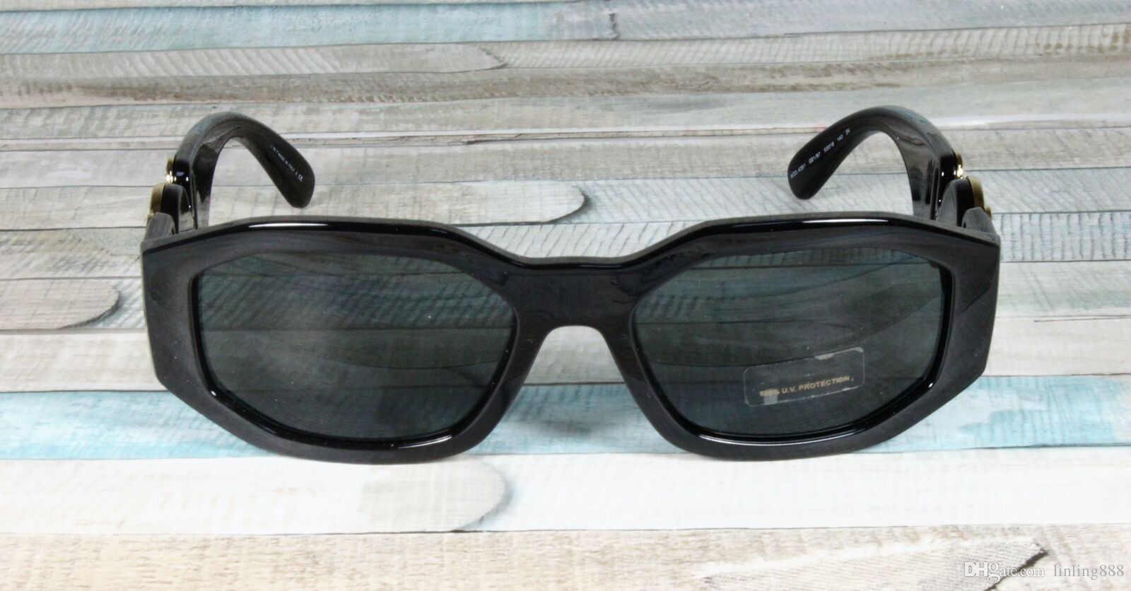erkek kadın Gözlük 4361 GB1 / 87 Siyah / Gri Erkek Güneş Gözlüğü 53 mm Unisex Tasarımcı Güneş Lüks Güneş Moda Markası