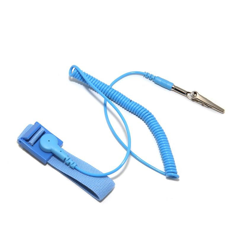 United Antistatic Esd Wristband Metal Adjustable Grounding Strap Blue Smart Electronics Smart Accessories