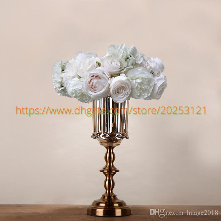 3D Wedding artificial flowers white light pink wreath table centerpiece flower balls wedding road lead flowers YHC1021