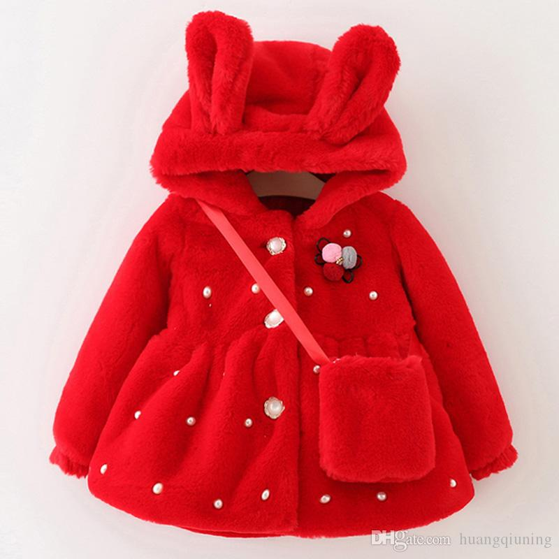 197e95833752 2019 New Year Coat Girl Winter Jacket Thickening Baby Red Cotton ...