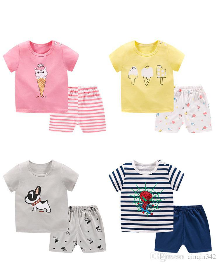 99c8266e06a77 2019 Kids Designer Clothes Girls Cartoon Shark New Born Baby Boy Fashion  Clothing Outfits Baby Girl Casual Clothing Sets From Qinqin342, $0.13    DHgate.Com