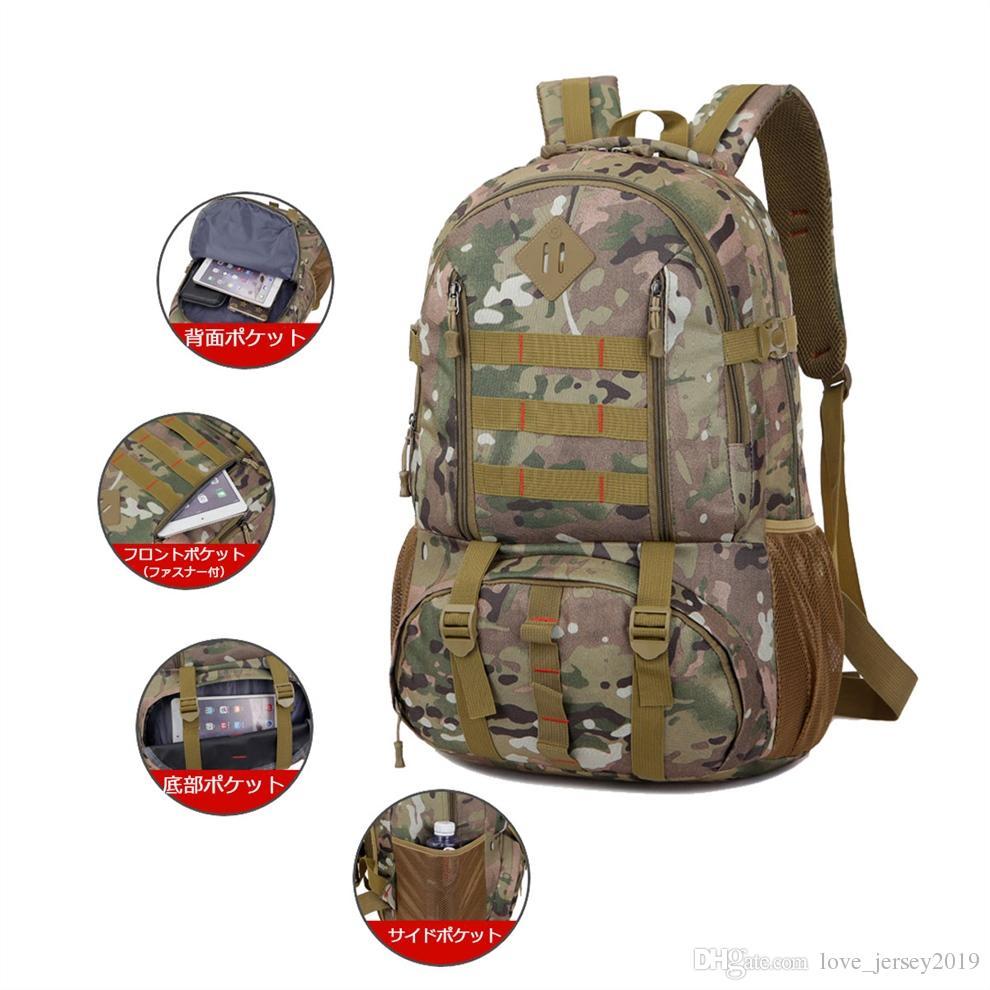3543c4f275 50L Outdoor Climbing Bag Mountain Rock Climbing Backpack Military ...