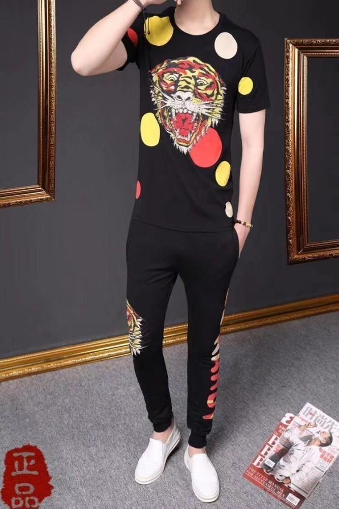 19ss New Pattern Men's Tracksuits Personality Design And Best Quality Men's T Shirts And Pants Two-piece Of Set V2201