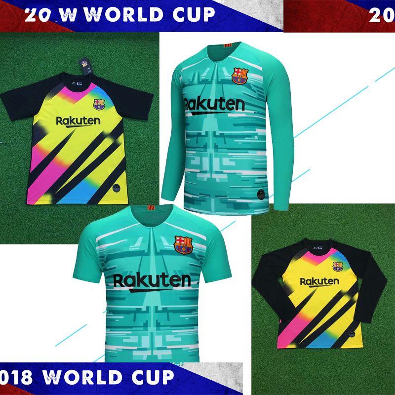 reputable site d9e32 63226 Barcelona Messi de goalkeeper 2020 MESSI Soccer jersey Suárez INIESTA  DEMBELE COUTINHO fc barcelona Shirt football Long sleeve man Kit