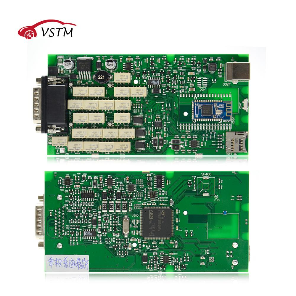2018 Best Quality TCS cdp Single Green PCB board CDP PRO 2014 2/2016  Software with Keygen for Car and Trucks Diagnostic Tool