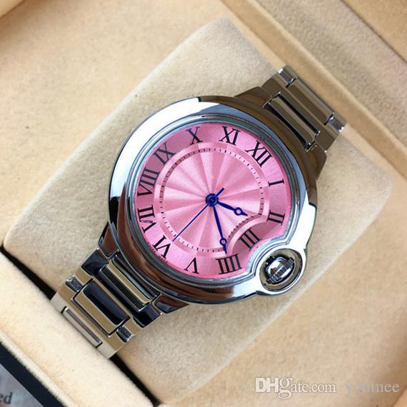 Pour Rose Top Brand Couleur Acier Bracelets Imitation Montres Lady Livraison Hommes Conch Dames En Chaîne De WDbH9YeE2I